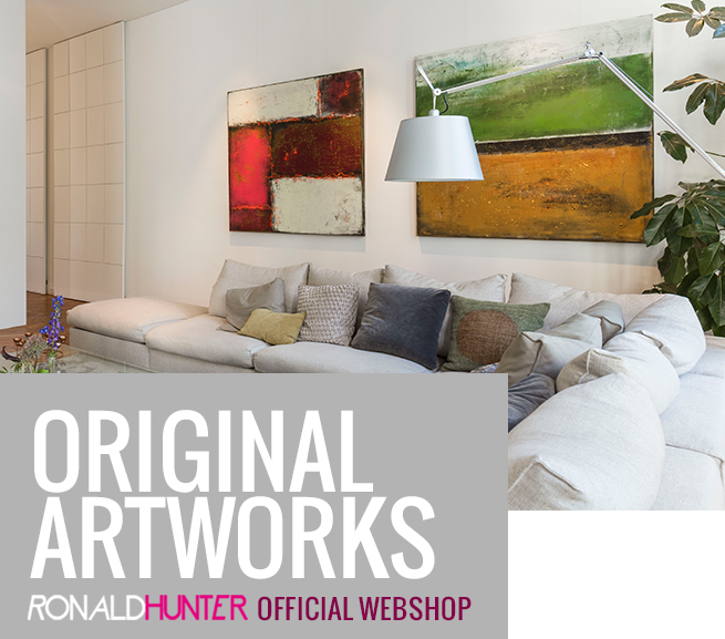Original Abstract artworks created by Ronald Hunter
