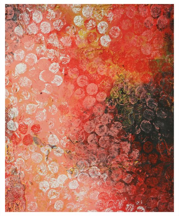 Boiling Bubbles Red by Ronald Hunter. A hot piece of art.