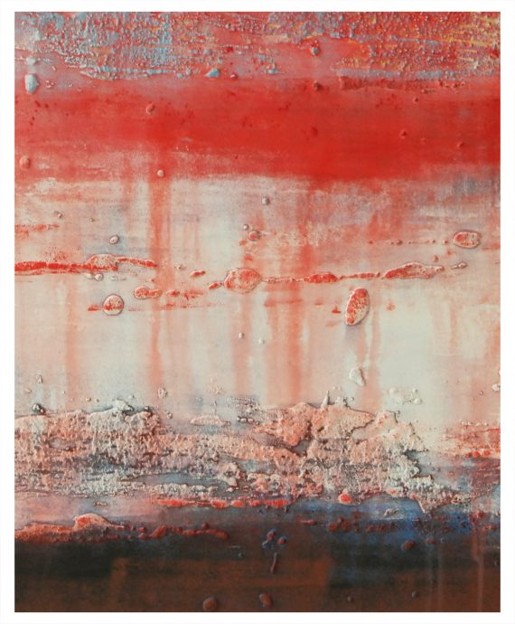 Red Blues, an abstract painting by Ronald Hunter.