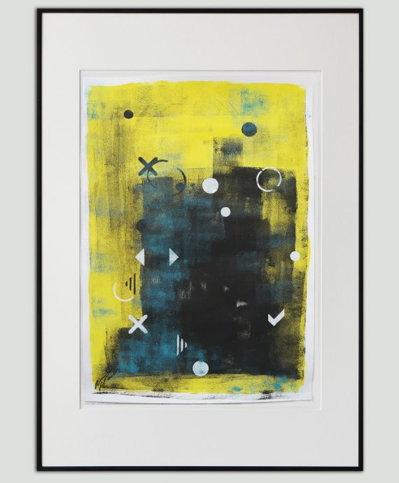 Yellow Playground – Fine Art on Paper by Ronald Hunter