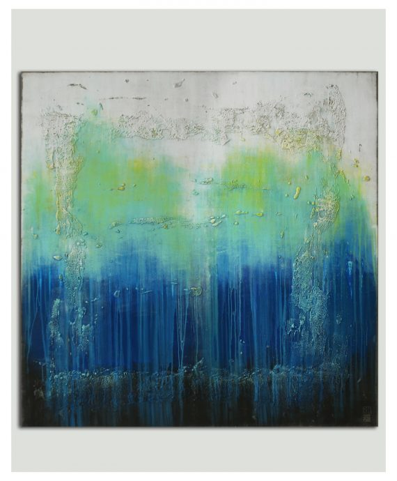 XL painting Oceanic Blues by Ronald Hunter
