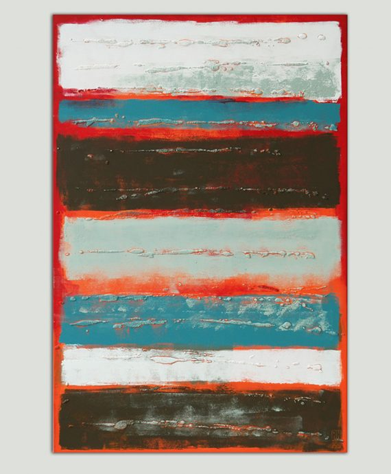 Red Stacked, by Ronald Hunter.