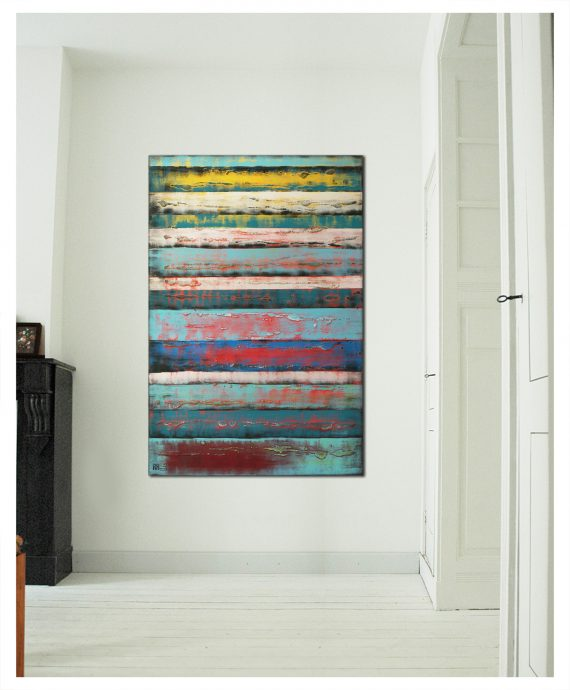 Vertical panels by Ronald Hunter.