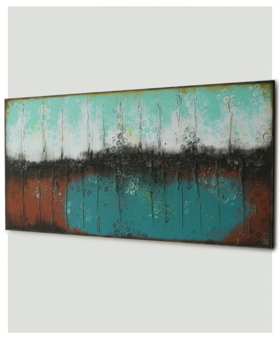 Boiling Bubbles Landscape, abstract painting made by Ronald Hunter.