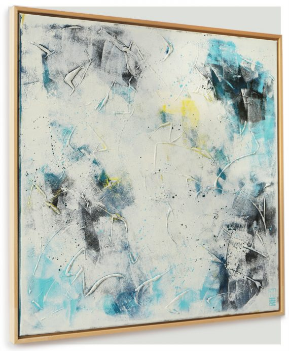 White on White, including frame, by Ronald Hunter.