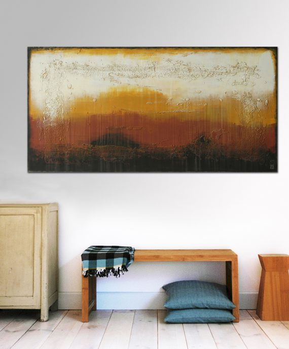 abstract brown painting