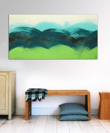 abstract green painting