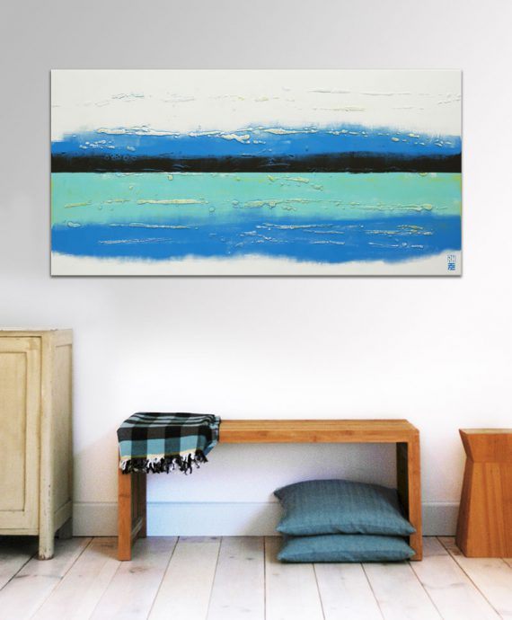 abstract lined painting