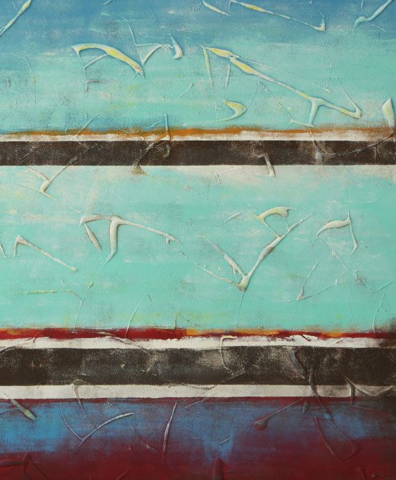 Turquoise Abstract painting by Ronald Hunter.