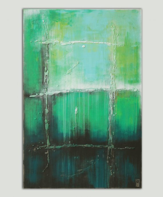 Vertical Green Painting