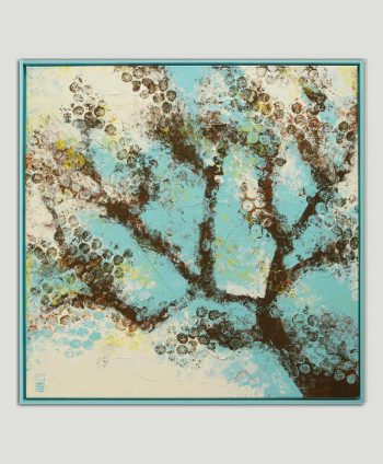 abstract tree painting square frame ronald hunter