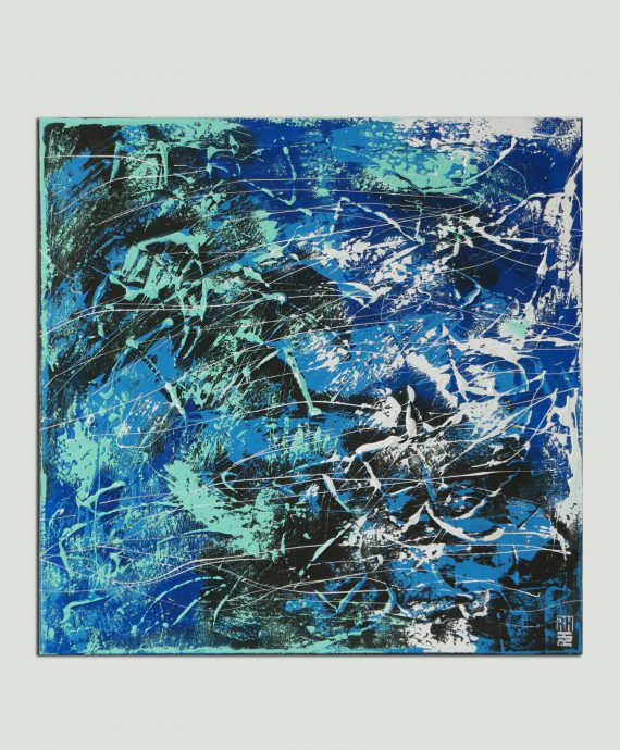 Night Blue Swirl, abstract painting by Ronald Hunter