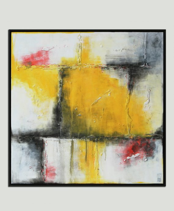 Abstract painting, Yellow Splashes by Ronald Hunter