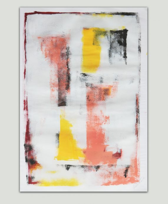 Yellow in White – Fine Art on Paper by Ronald Hunter