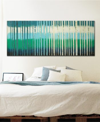horizontal striped painting