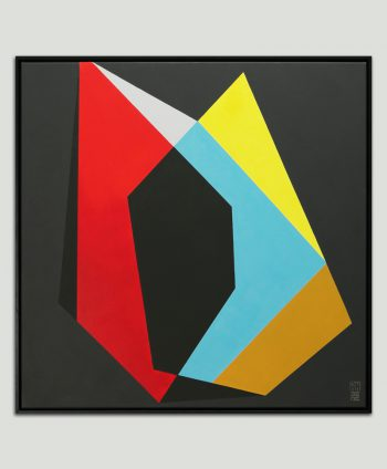 black minimal painting frame square ronald hunter