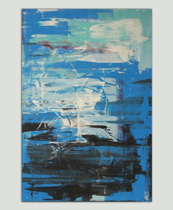 blue modern painting