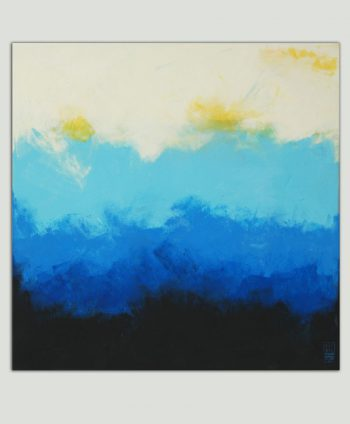 blue painting square