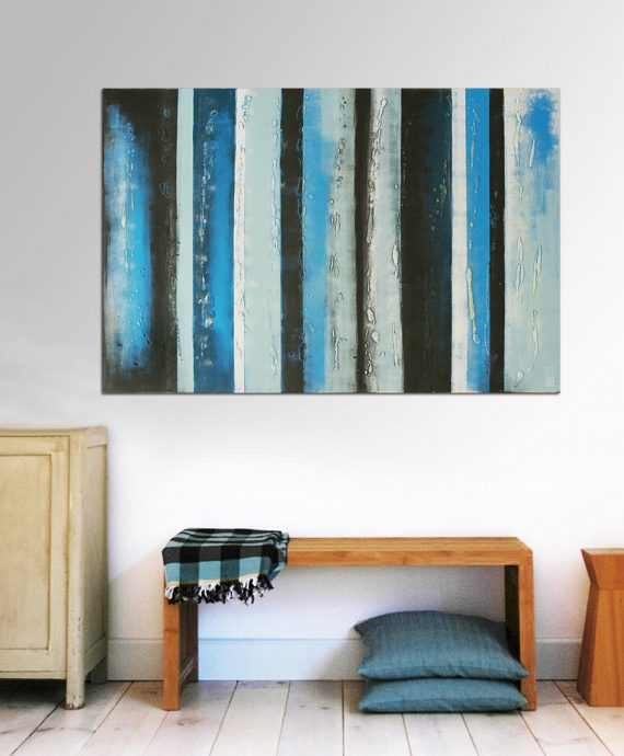 cool blue painting