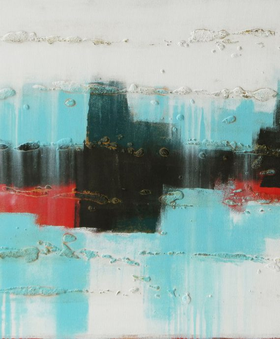 Abstract cityscape, City White Lights, by Ronald Hunter