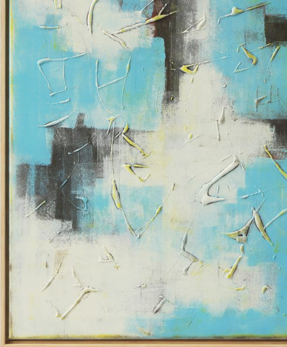 Original abstract painting, made by Ronald Hunter.