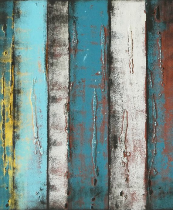 Panels Natural Blue, modern painting by Ronald Hunter