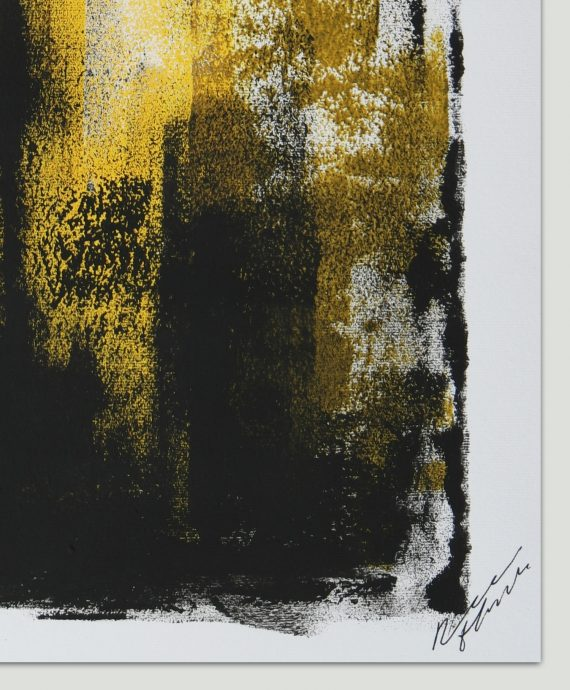 Yellow Architect – Fine Art on Paper by Ronald Hunter