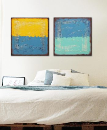 diptych painting abstract ronald hunter