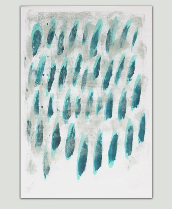 Blue Dots – Fine Art on Paper by Ronald Hunter