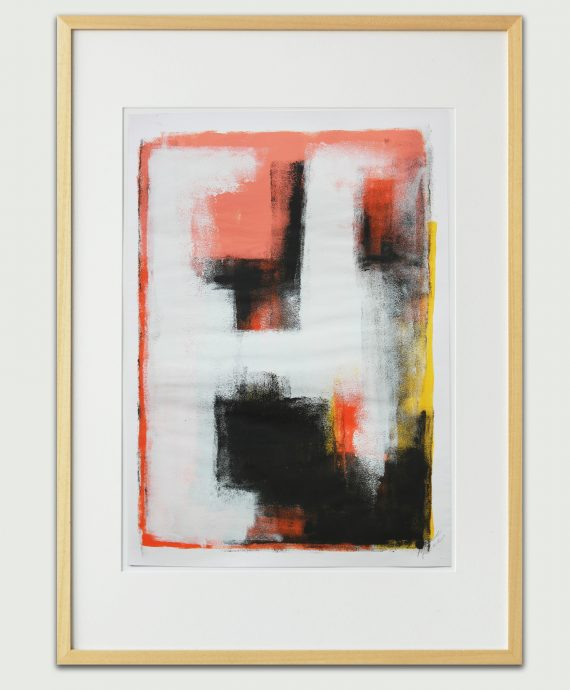 Pink Abstract – Fine Art on Paper by Ronald Hunter