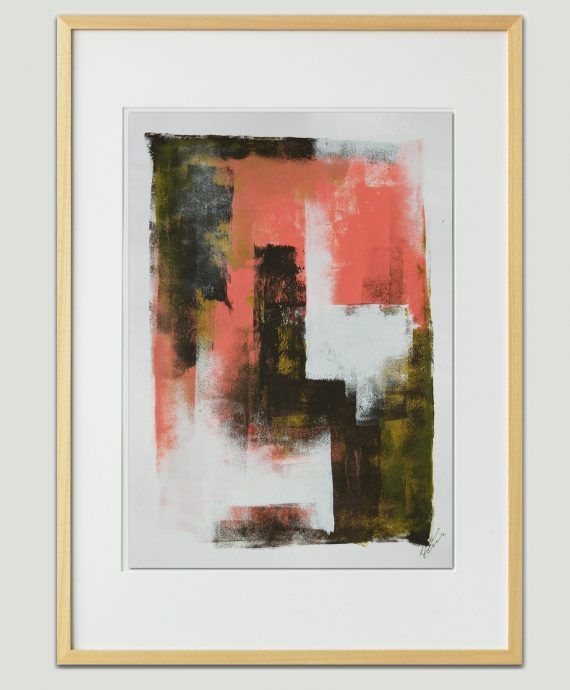Pink Brown Architect – Fine Art on Paper by Ronald Hunter