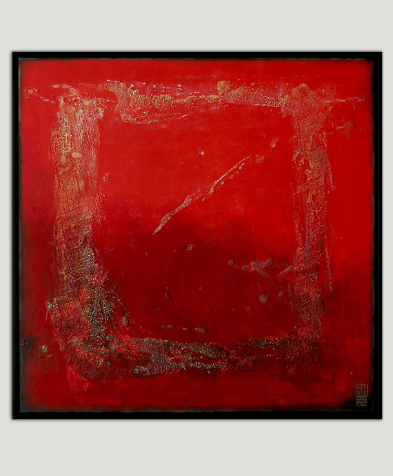 framed_red_structured_abstract_painting_rhunter