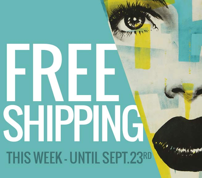 free shipping on all artworks