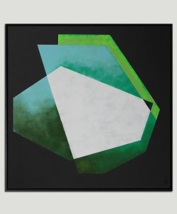 geometric green paintnig