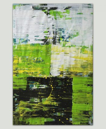 green modern painting
