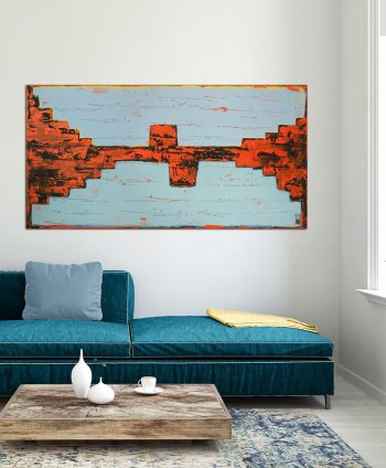 horizontal abstract painting