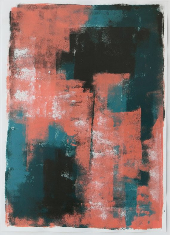 Turquoise over Pink – Fine art on Paper by Ronald Hunter