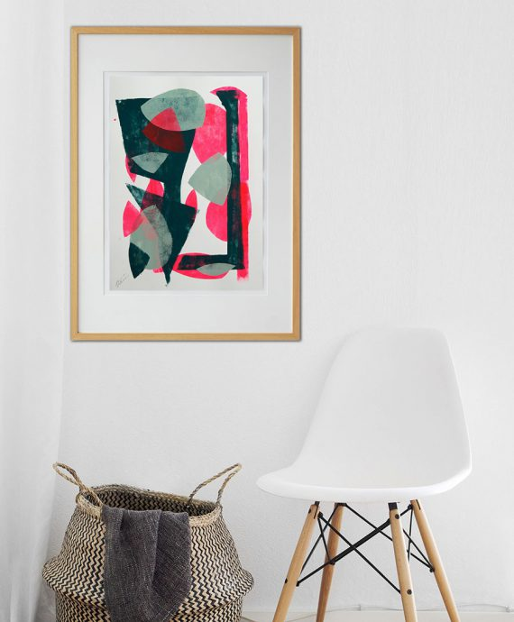 in_room_art_on_paper_pink_in_green_rhunter