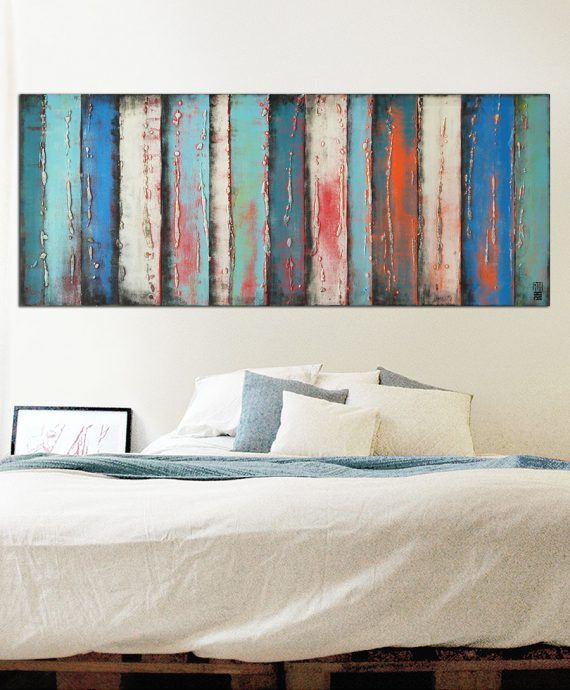 in_room_blue_panels_orange_abstract_painting_rhunter