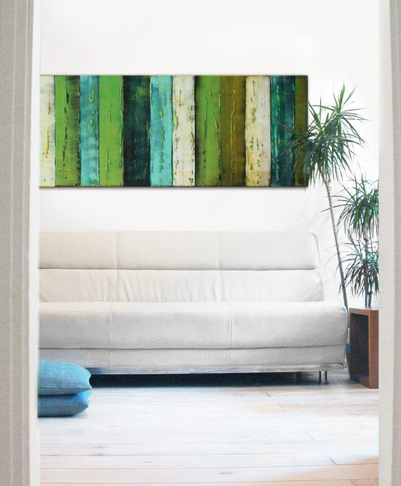 Original painting by Ronald Hunter, Green Natural Panels