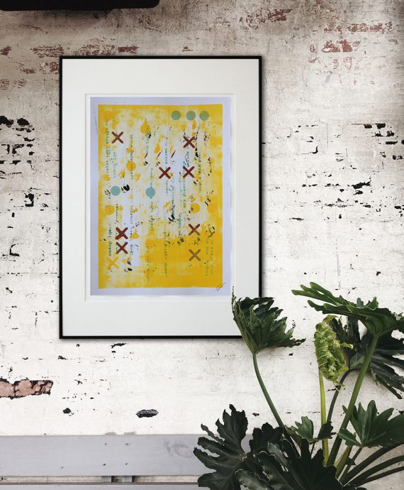 Fine Art on Paper, colorful affordable art by Ronald Hunter.