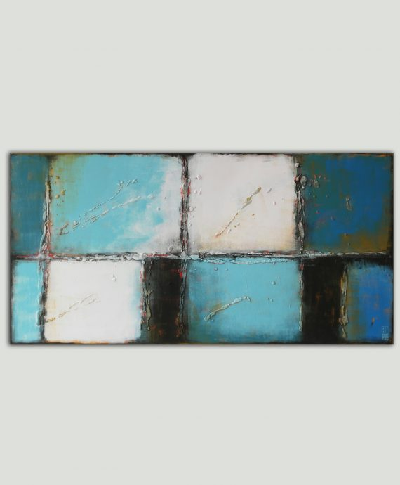Turquoise Lots, original painting by Ronald Hunter