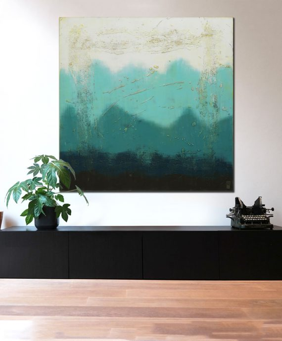 large abstract blue painting