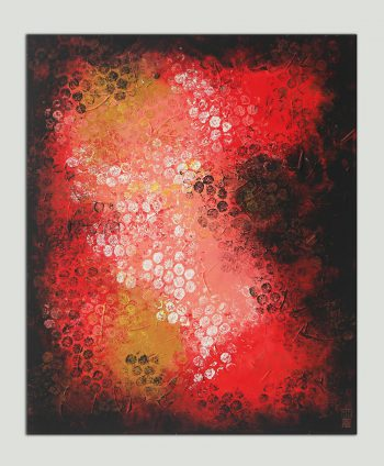 acrylic red painting