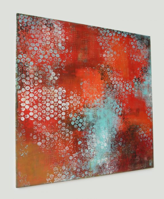 XL Redz, large abstract painting by Ronald Hunter