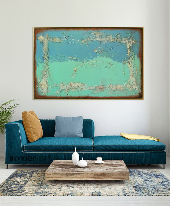 large painting with frame