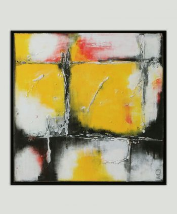 modern painting with frame