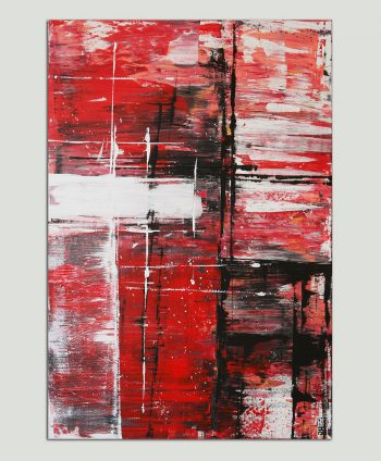 modern red painting