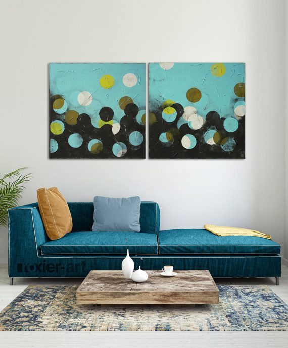 modern two piece painting
