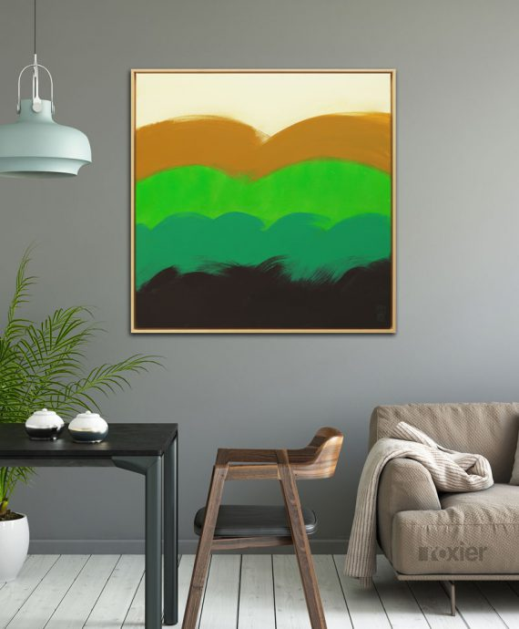 modern wave painting abstract ronald hunter